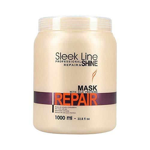 stapiz Repair Hair Mask mit Silk Protein Sleek Line Reparatur und Glanz 1000ml - Silk Repair Protein Lassen