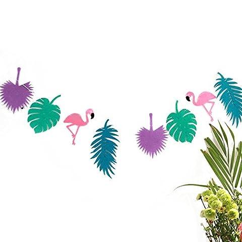 Bannière fête Flamingo Garland Luau hawaïen Birthday Party Festival décoration par Tinksky