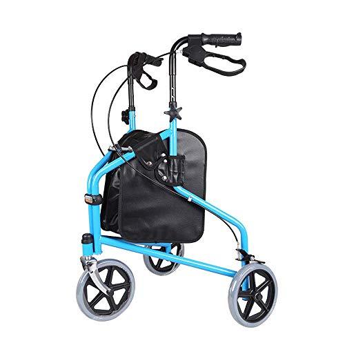 WYFC shopping cart Ultraleichter 3-Rad-Rollator/Tri-Gehwagen, zusammenklappbar mit