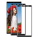 Cherbell [2 Pièces Verre Trempé pour Samsung Galaxy Note 9 Film Protection en Verre Trempé Protection d'écran Dureté 9H, sans Bulles pour Samsung Galaxy Note 9 (Noir)