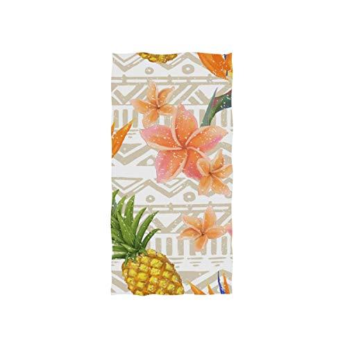 LUPINZ Vintage Tropisches Ananas-Muster Handtuch Gesichtshandtuch Waschlappen Waschlappen 76,2 x 38,1 cm -