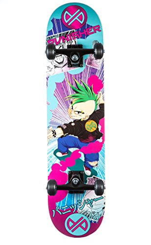 Punisher Skateboards Anime komplett Skateboard mit convace Deck (Anime Skateboard Deck)