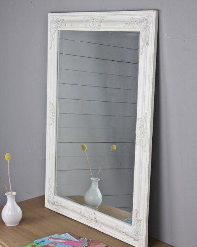 Espejo-de-pared-Oro-Blanco-Plata-Marco-de-madera