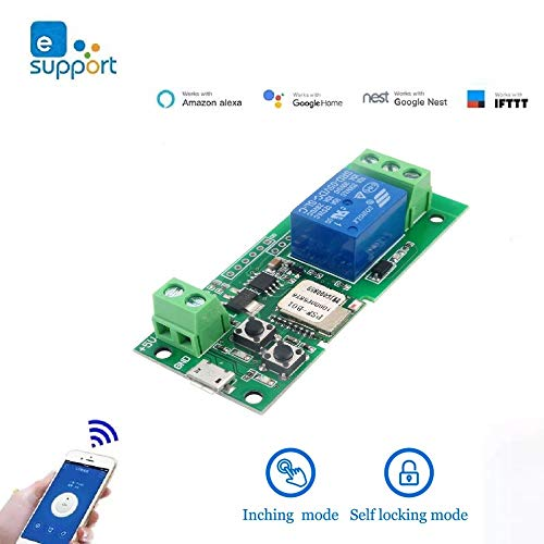 MHCOZY Smart Switch Inching/Selbsthemmung WLAN-Relais, WIFI zum Garagenkamin hinzufügen (5V)