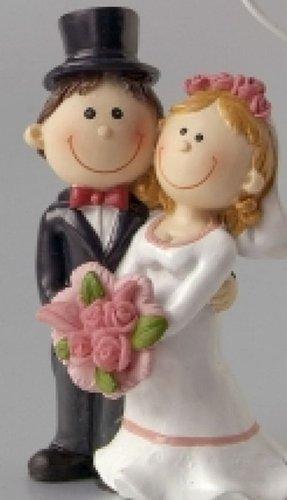 ystone, Braut mit rosa Blumen, Bräutigam mit Zylinder ()