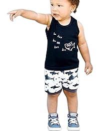 ropa Bebé,Switchali Recién nacido Infantil Bebé niño verano manga corta camisa + pantalones cortos niña moda Mono Algodón linda ropa de 0 -2 años