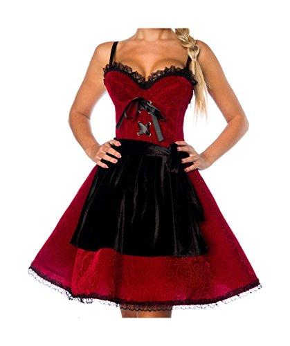 dline, Rot/Schwarz, S (Biergarten Damen Kostüm)