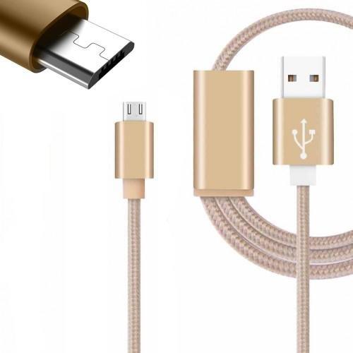 Colore micro USB cavo per il Wilko View. Nylon intrecciato cavo (3metre) con alta velocità di ricarica e trasferimento dati by Digi Pig