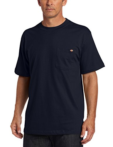 Dickies - - Männer WS436 Short Sleeve 100% Baumwolle Pocket Tee, Large, Dark Navy -