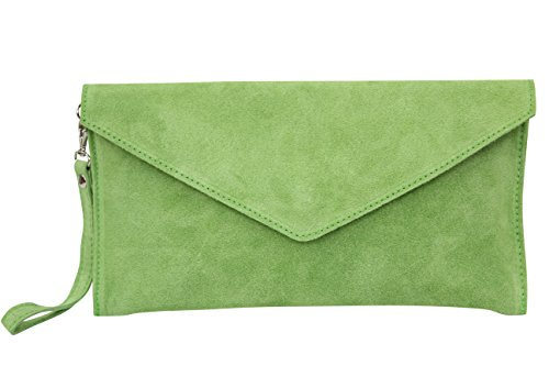AMBRA Moda - Bolso de hombros de mujeres ( 32 x 2 x 17 cm), verde manzana