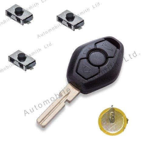 DIY kit de réparation pour BMW Porte-clé à télécommande 3 boutons avec lame HU58