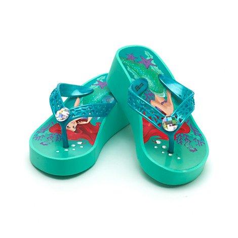 Disney Arielle, die Meerjungfrau - Flip Flops mit Keilabsatz für Kinder-UK Größe 9-10 / EU-Größe 27-28
