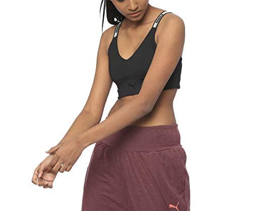 PUMA Damen Soft Sports Crop Top BH, Black, M