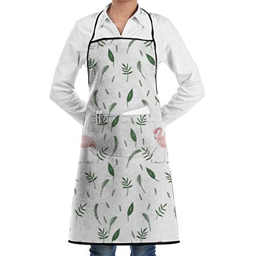 Drempad Schürze Color Lead Painting Flamingo Chef Apron Funny Heavy-Duty Aprons for Grilling, BBQ, Baking or Cooking -
