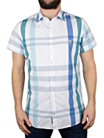 Duck and Cover Men's Cecil Checkered Shirt, White