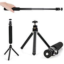 DURAGADGET Trípode De Mesa + Barra Telescópica Extensible Para la cámara Canon IXUS 170 | Powershot G1X MARK II | SX400 - ¡Set Ideal Para Viajes!
