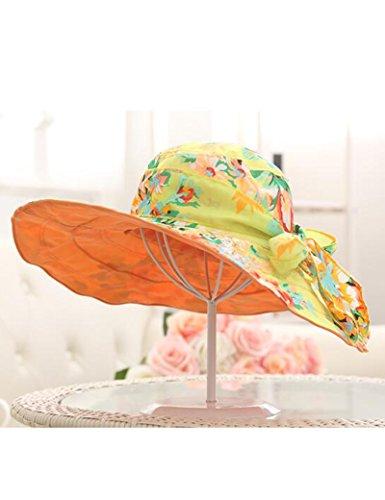 Femme plage chapeau Protection solaire de printemps et d'été Anti-UV Génial le long de plein air Pliable chapeau de soleil chapeau de soleil ( couleur : 2 ) 2