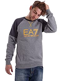EA7 - Armani running - Sweat col rond gris homme 6XPM91