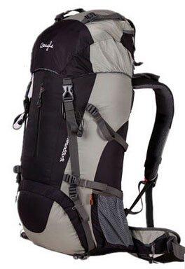 Cinny Klettern Taschen wasserdicht Wandern outdoor Rucksack Ripstop 50L 60L black-50L