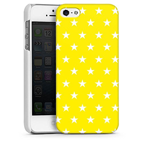 Apple iPhone 5s Housse Étui Protection Coque Étoiles Ciel Motif CasDur blanc