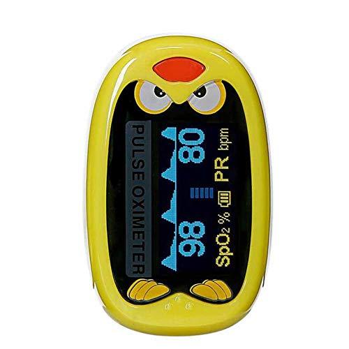WANGXN Pulsoximeter Blutsauerstoffsättigungsmonitor Automatische Abschaltung Und Schnelle Ablesung Fit Für Kinder,Yellow