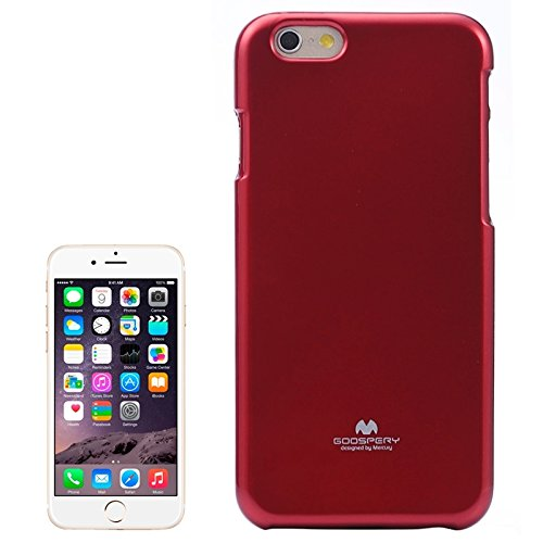GHC Cases & Covers, Gelee schimmernde Puder TPU Fall für iPhone 6 u. 6S ( Color : Black ) Red