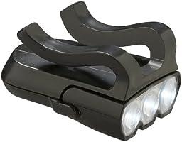 N-Rit Unisex Ultra Bright Şapka Lambası 3 Led, Siyah, Tek Beden