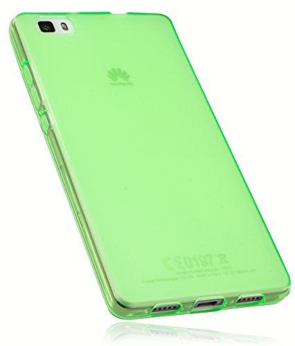 mumbi Schutzhülle Huawei P8 Lite Hülle transparent grün (nicht für das P8 Lite Smart)