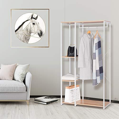 Garderobenständer: WOLTU SR0047whe Garderobenständer Kleiderständer