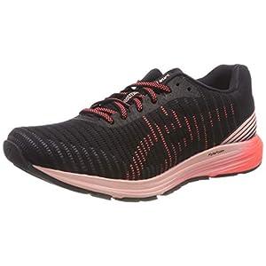 Asics Dynaflyte 3, Zapatillas de Entrenamiento para Mujer, Negro (Black/Flash Coral 002), 38 EU