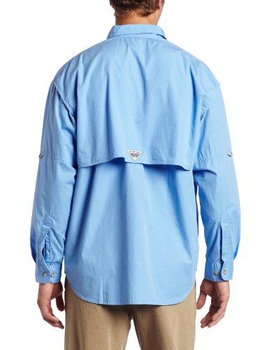 Columbia Bonehead camicia a maniche lunghe alto Tappo bianco(blu)