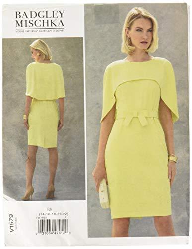 Vogue American Designer-muster (Vogue Mustern 1579E5Schnittmuster Petite Kleid, Größen 14-22, Tissue, Mehrfarbig, 20x 0,5x 25cm)