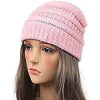 HAOLIEQUAN Mützen Wintermützen Für Frauen Strickmütze Mit Tag Warm Baggy Stretch Knit Chunky Cable Beanie Ski Cap