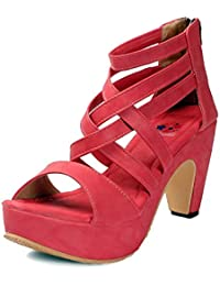 Meriggiare Women Red Synthetic Heels
