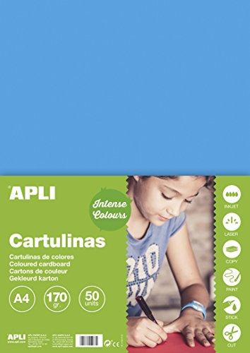 APLI 14241 - Cartulina azul cielo A4 170 g 50 hojas
