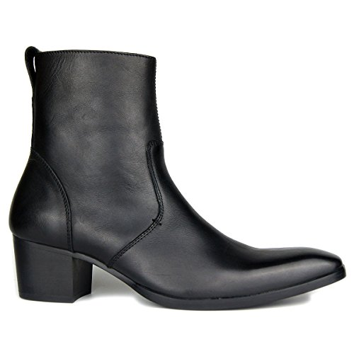 Stiefel für Männer High Heels Herren Kleid Schuhe Reißverschluss Stiefel OZ-JY002
