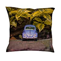 Lindosinsi Car Model Pillow Case Pattern Couch Pillow - Toy Car Curtain Case for Home Decor 45 * 45 white 18x18inch