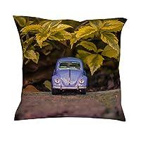 baotejianzhucailiao Car Model Cushion Case - Toy Car Sofa Decor Good Touch Linen Sofa Pillow Cover 45cmx45cm for Photography Decoration white 18x18inch
