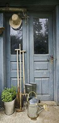 Banner - Thema: Frühling / Sommer - Gartentür - 180cmx90cm - zum Hängen & Dekorieren