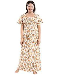 859093be891 TUCUTE Women s Girls Poly-Cotton Crush Fabric Beautiful Print Nighty Night  Gown