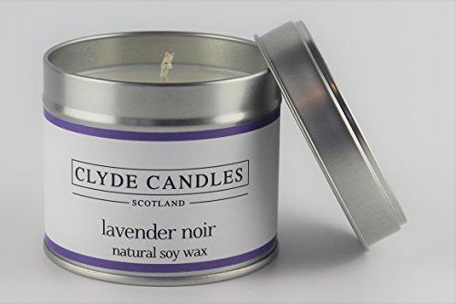 Lavendel Kerze Zinn (Clyde Kerzen Lavendel Noir Duftkerze in Dose)