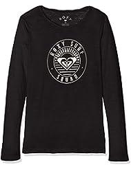 Roxy Gradual Awakening a Camiseta de Manga Larga, Niñas, Negro (Anthracite Solid), 10/M