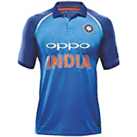 "Camiseta KD del equipo de India de críquet ODI, 2017-18, color Full Sleeve 2018 (Dhoni 7), tamaño 38"" (96,5 cm)"