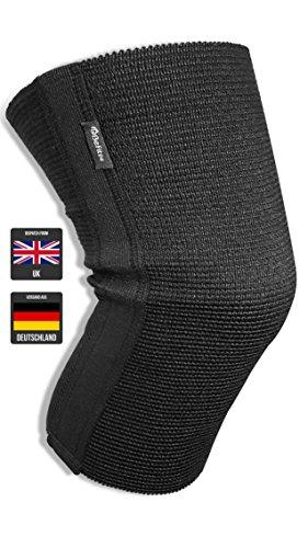 ®BeFit24 Premium Sport-Kniebandage - Knieschoner fürs Laufen, Kniebeugen, Crossfit, Gewichtheben und Powerlifting-Training - Knee Support Sleeve - Made in EU - 5 Jahre Garantie [Größe 6] -