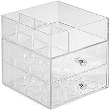InterDesign Coffee Dispensador de cápsulas de café   Porta cápsulas con 2 cajones   Práctica caja organizadora con capacidad para 18 unidades   Plástico transparente
