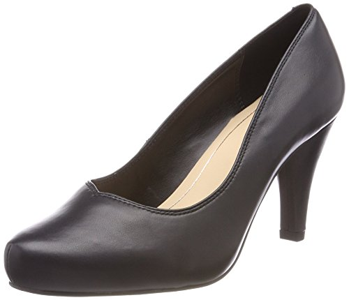 Clarks Damen Dalia Rose Pumps, Schwarz (Black Leather), 42 - Pumps Leder