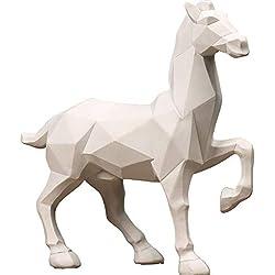 Adorno para mesa de centro Moderno, Caballo Origami Geométrico
