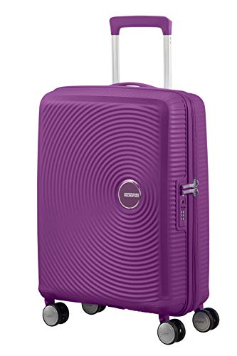 American Tourister Soundbox Spinner Small Expandable Bagaglio A Mano, 55 cm, 41 Liters, Viola (Purple Orchid)