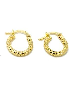 Kleine Gold Ohrringe Creolen aus 18 Karat / 750 Gelbgold ( 2 x 11 Ø mm ) - PRI244