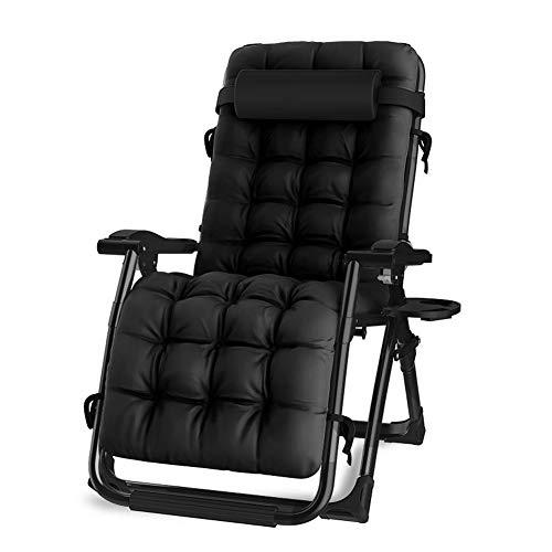 Donyit Faltbare Liege im Freien Liegestuhl Sessel mit Wattepad Terrasse Gartenmöbel Stuhl Bett Chaise Lounge Relaxer Chair - Die Terrasse Chaise Lounge Für
